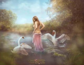 Swan Lake by Lotta-Lotos