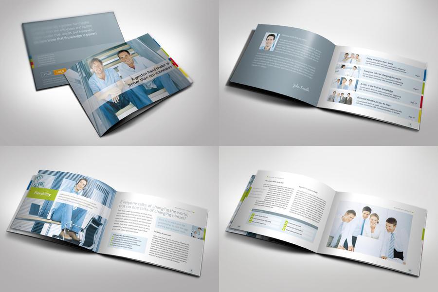 horizontal brochure template - strategic horizontal brochure by mikingers on deviantart
