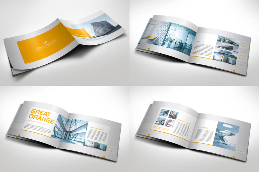 Modern Horizontal Brochure by Mikingers