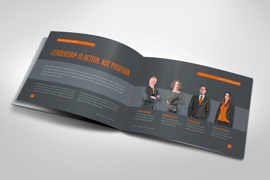 Business horizontal brochure by mikingers on deviantart for Horizontal brochure design