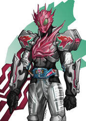 Kamen Rider Feathers Charge by Skaphel