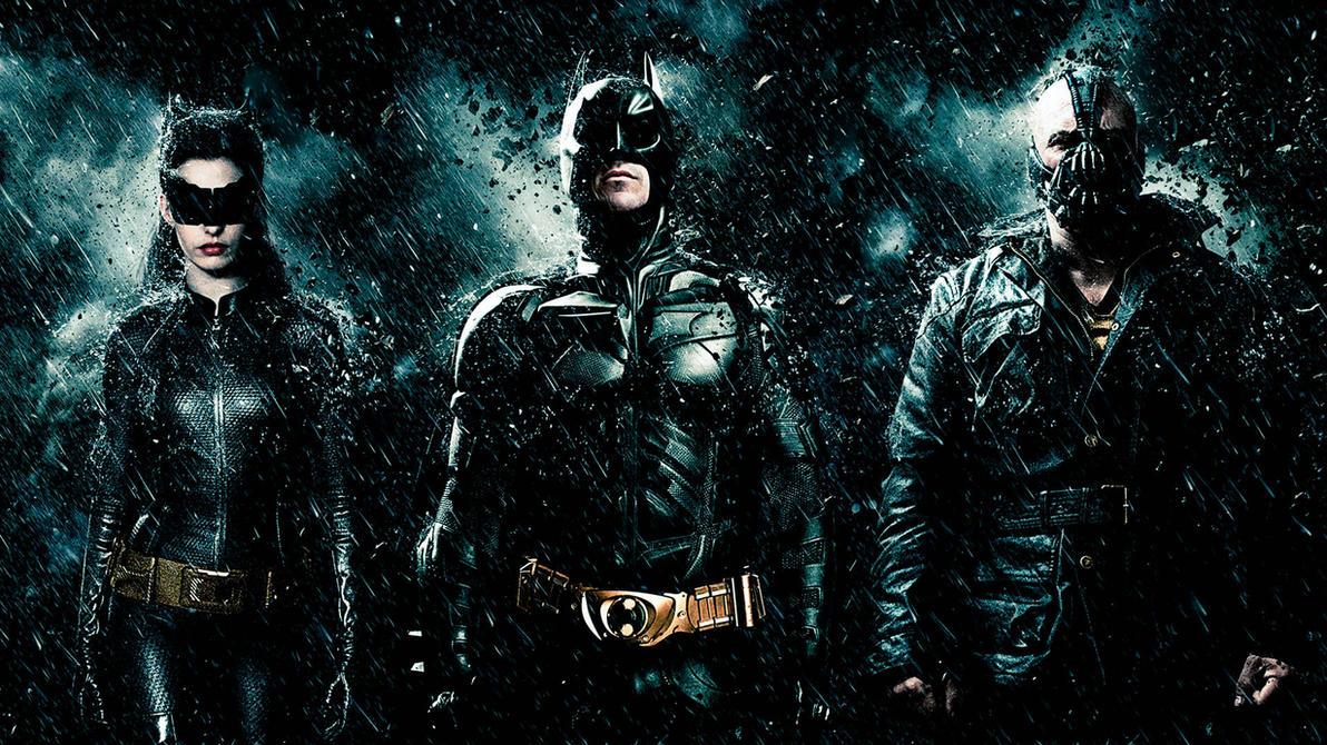 The Dark Knight Rises Catwoman-Batman-Bane by titiuchiha