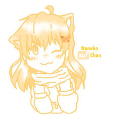 Nanoko chan - My Anime OC (Headshot sketch) by Nazliarc