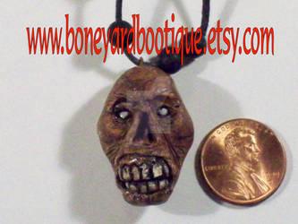 Zombie Head Necklace