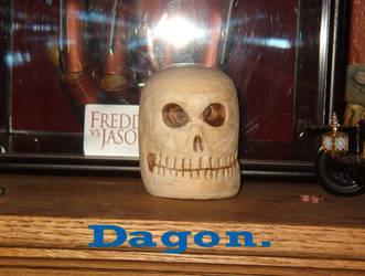 Wood Skull.