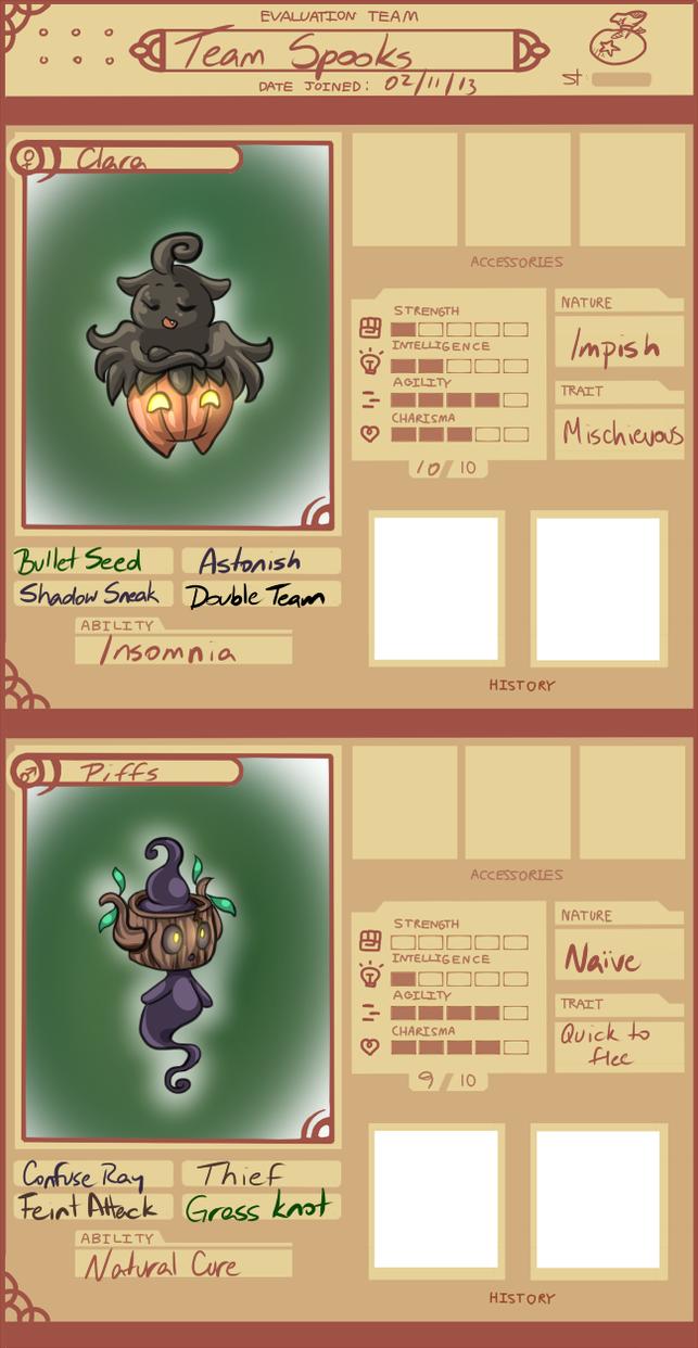 PMDU: Team Spooks by tsukino-hikaru