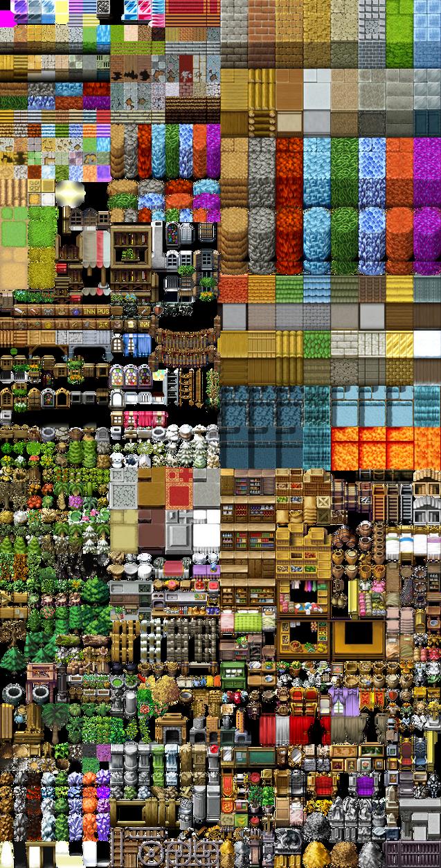 RPG Maker VX RTP Tileset by telles0808