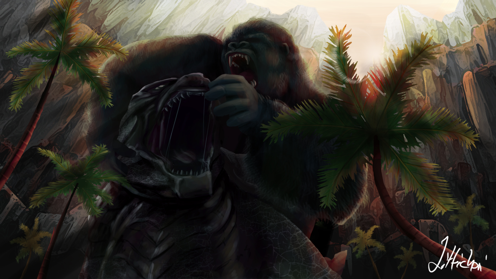 Godzilla Vs King Kong by jittichaipothanom on DeviantArt