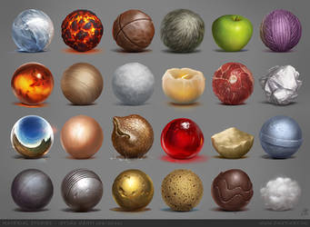 Material studies by danyiart