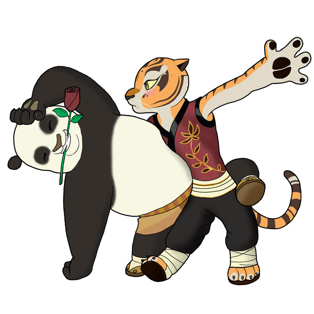 Tigress and Po Dancing by bico-kun on DeviantArt