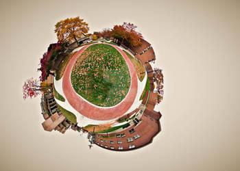 In Orbit - Tiny Planet by aeroartist