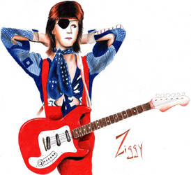 Ziggy Played Guitar by aeroartist