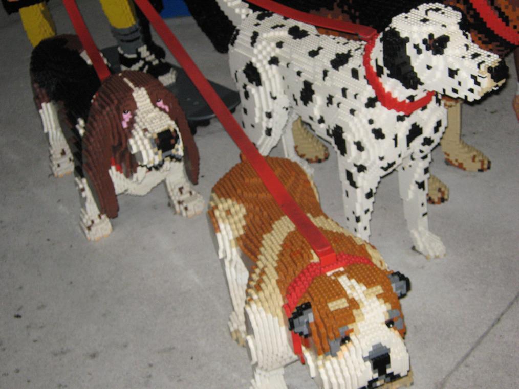 Lego Dogs by fuzzyslipperlogic