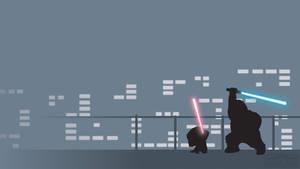 Luke (Chris) vs Darth Vader (Stewie) Family Guy