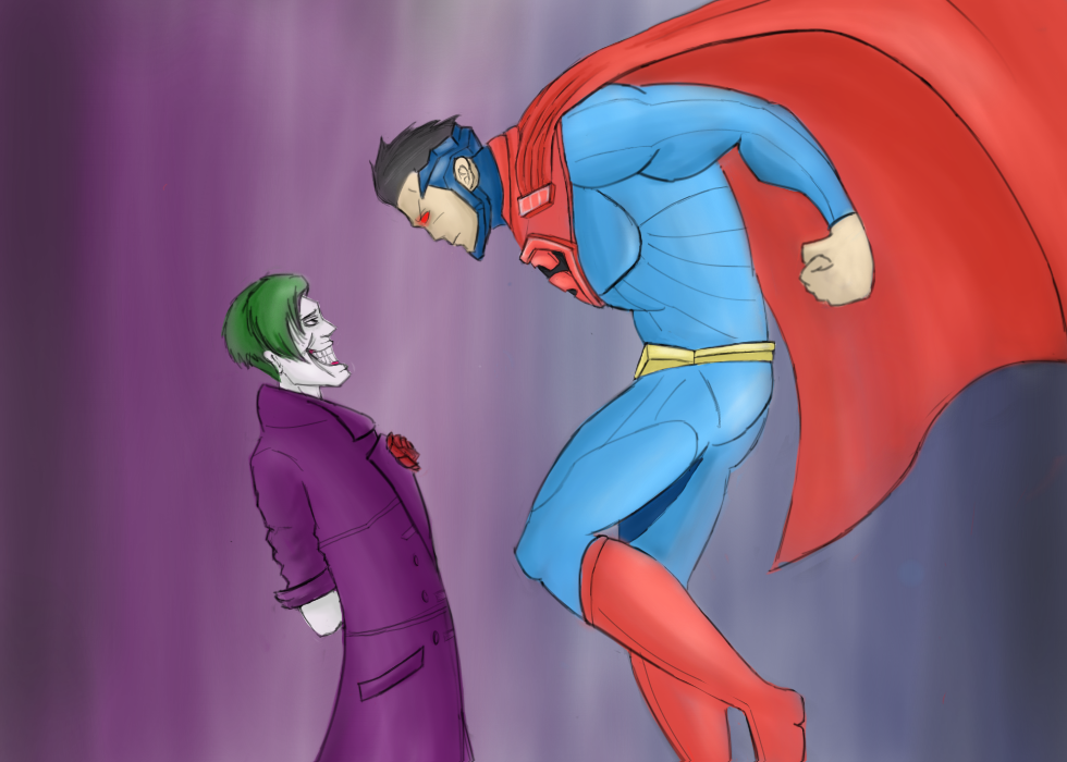 Superman V Joker by ironbranch
