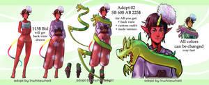 [OPEN] Dragon priestess tiefling adopt by 1rWhite