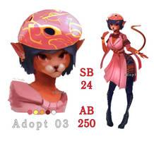 [OPEN] Masquerade cat-girl adopt by 1rWhite