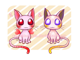 Hearts and Stars Kitties Adoptables [ OPEN ] by XenoniAdopts