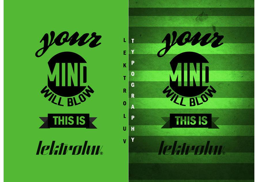 Lektroluv Typography by SpiderIV