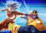 Mastered UI Goku vs. Thanos