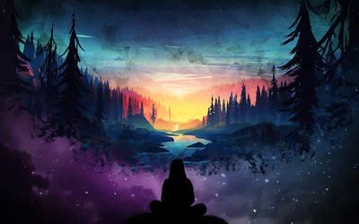 Girl Escorts a Magical Sunset