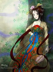 Tang Dynasty lady on ipad2 by rainrei