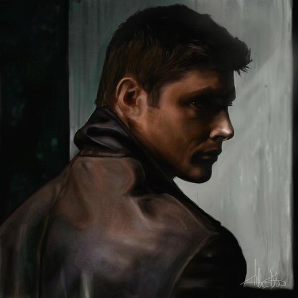 Dean Winchester in Silhouette by AlyssaMS