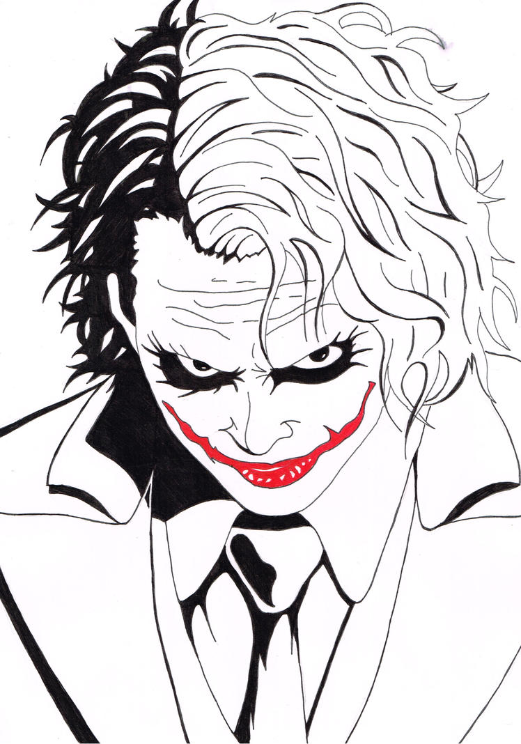 The Joker Line Art : Heath ledger as joker by mrandateika on deviantart