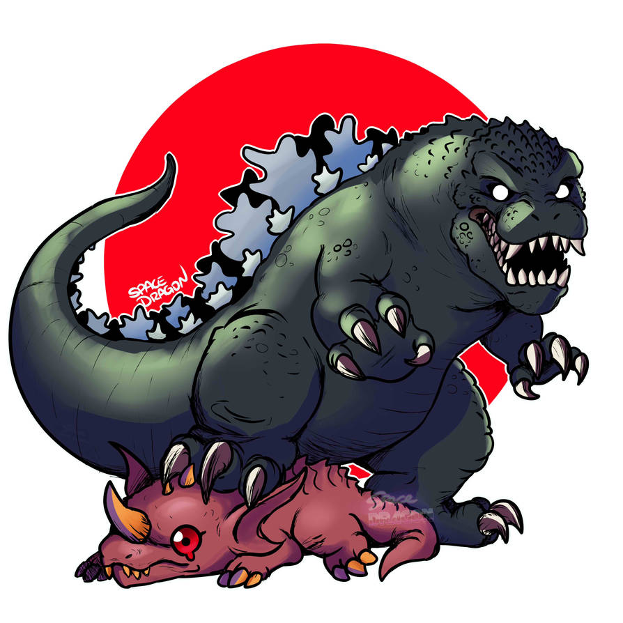 Mini GMK Godzilla by SpaceDragon14