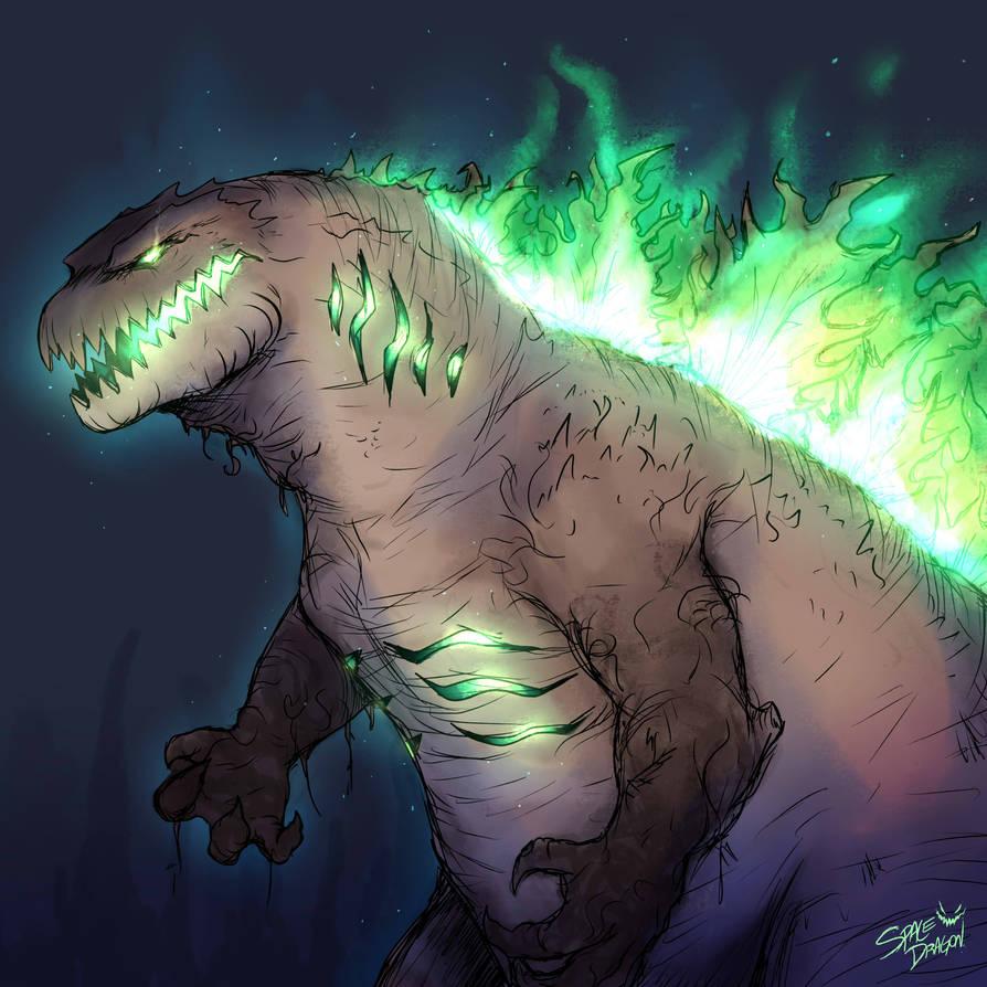 Halloween Godzilla by SpaceDragon14