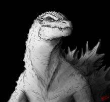 Random Godzilla sketch by SpaceDragon14