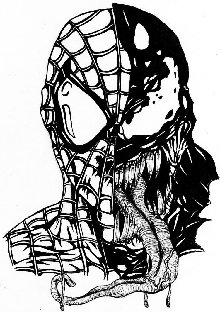 Spiderman drawings venom - photo#9