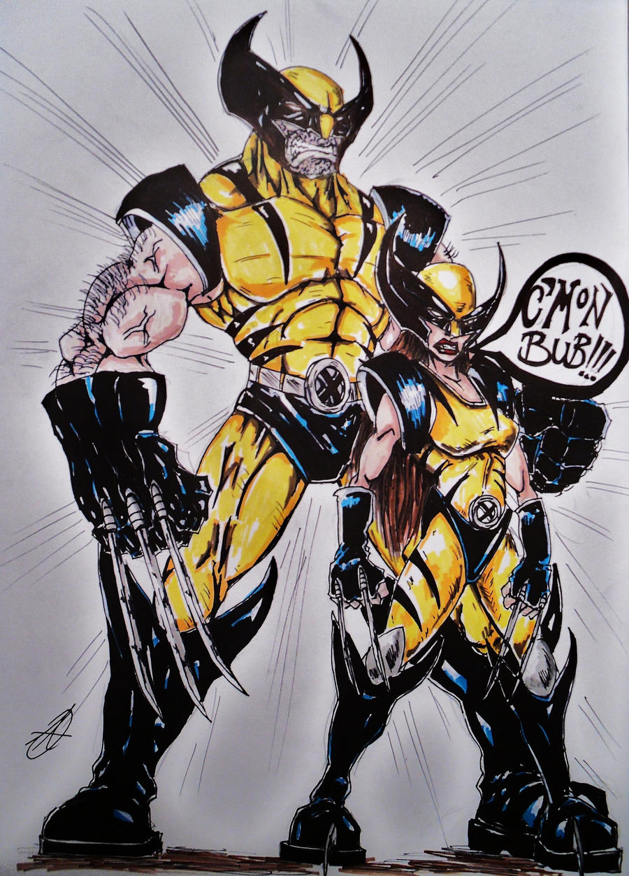 wolverine and x 23 by darkartistdomain