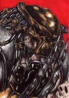 predator portrait1 colour by darkartistdomain