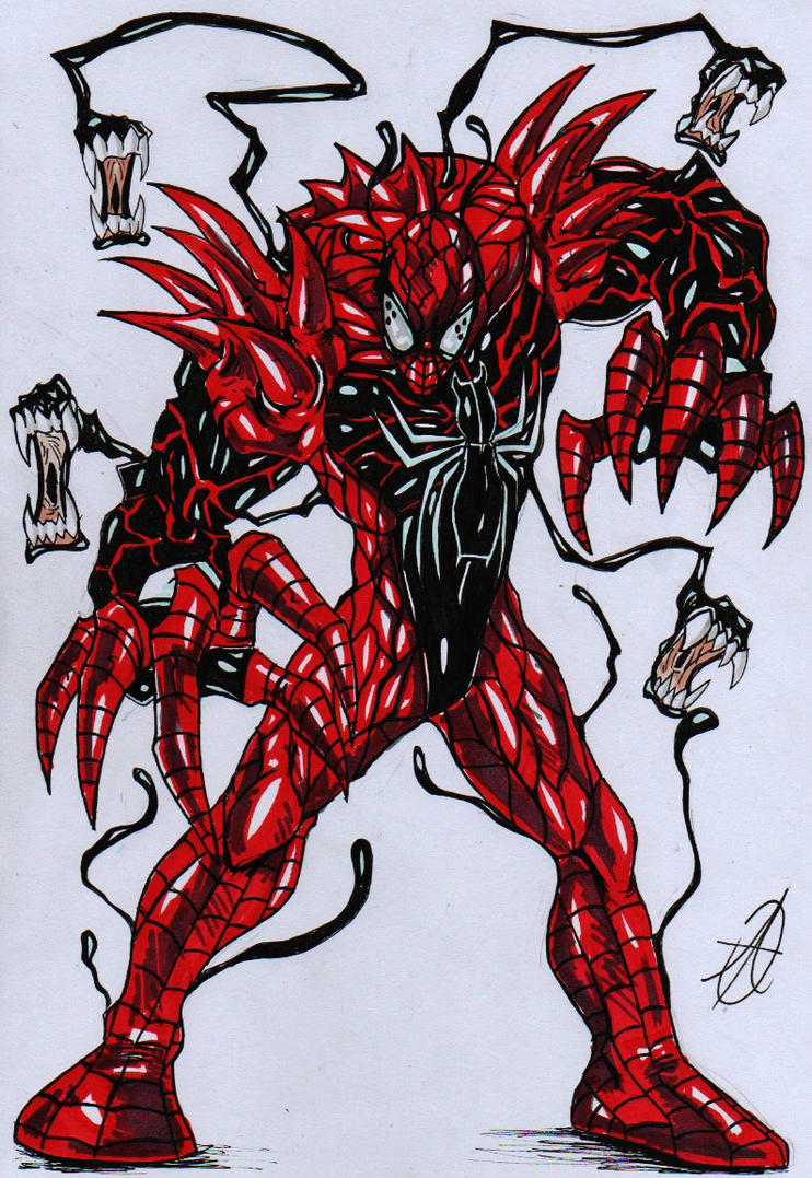 Spiderman Vs Venom Vs Carnage Drawing Animalcarecollege Info