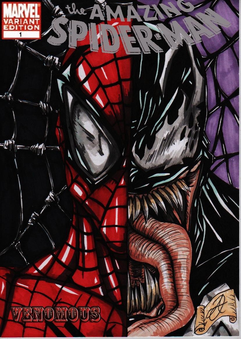spiderman-venom cover colour by darkartistdomain on DeviantArt