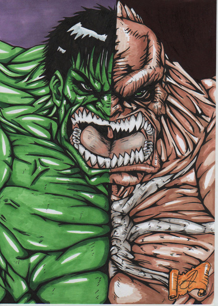 hulk-abomination artwork color by darkartistdomain on DeviantArt