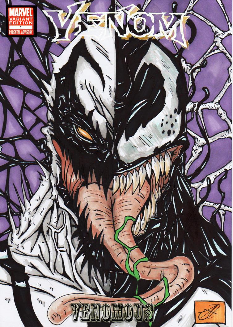 anti venom vs venom colour cov by darkartistdomain on ...