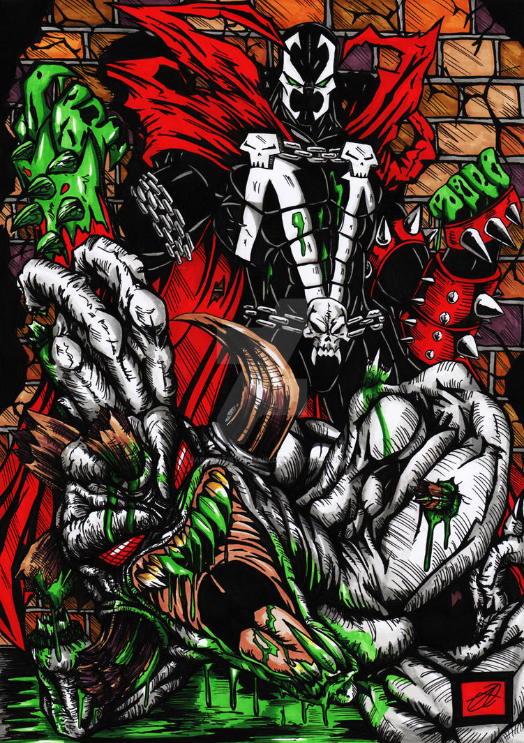 Spawn Vs Violator coloured version by darkartistdomain
