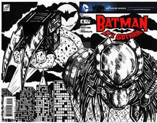 Batman / predator comic cover