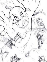 Casper v.s. Ghostbusters:lines