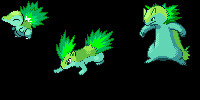 Cyndaquil evolution chain by ZomZoomg