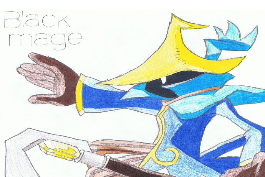 Black mage by ZomZoomg