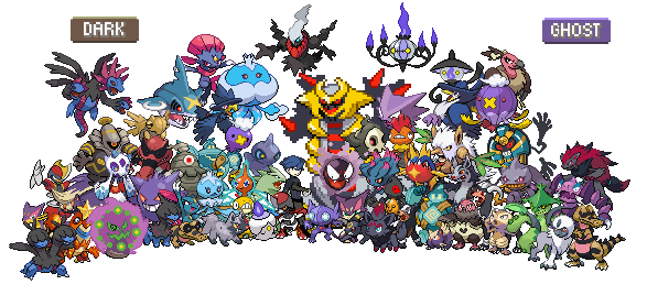 All ghost pokemon names