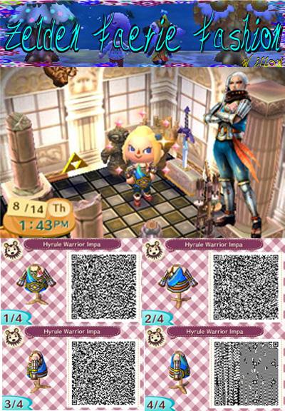 Hyrule Warriors Impa Animal Crossing New Leaf Qr By Zeldaandfairies On Deviantart