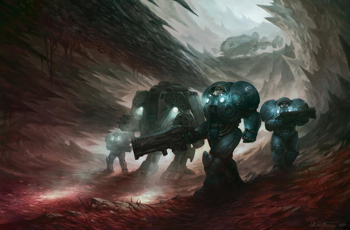 Terran investigation by vablo on deviantart - Starcraft 2 wallpaper art ...
