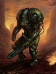 Alien Chainsaw Marine