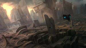 Sci-Fi City - Perspective Practice