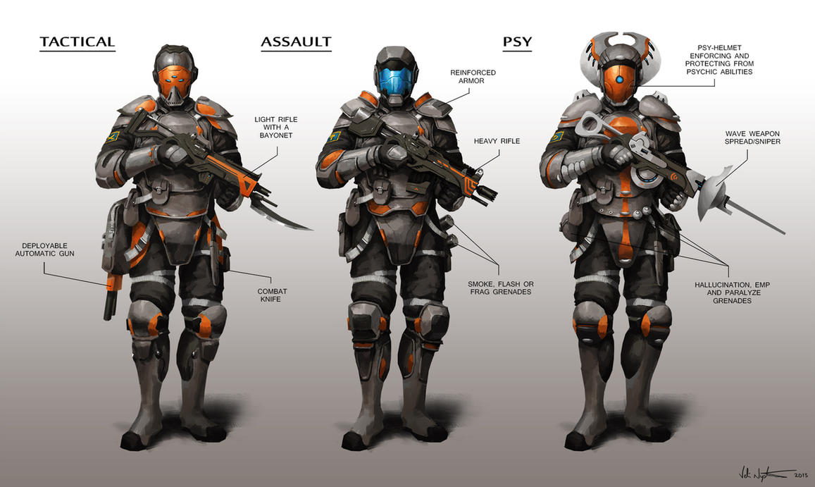 Futuristic Soldiers by Vablo