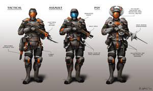 Futuristic Soldiers by Vablo